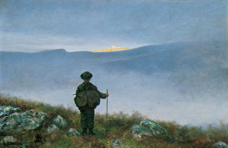 """Norwegian painting named """"soria Moria castle"""""""